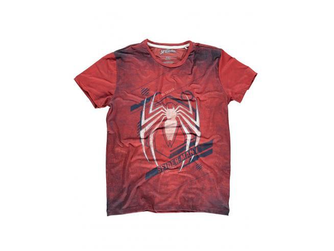 Spider-man - Acid Wash Spider T-shirt Uomo Difuzed