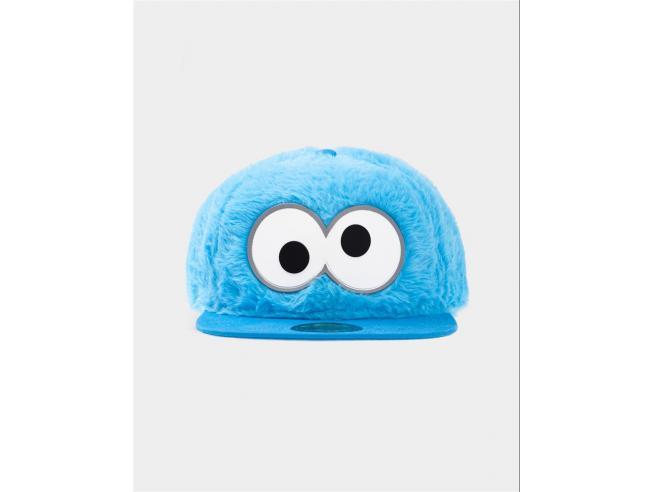 Sesamestreet - Cookie Monster Novelty Fur Cappellino Snapback Difuzed