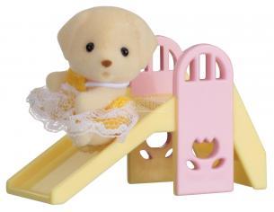 Sylvanian Family 5204 - Bebè Cane e scivolo