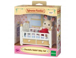Sylvanian Family 5017 - Bebè Coniglio Cioccolato e lettino