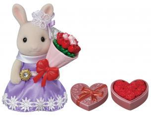 Sylvanian Family 5369 - La sorella maggiore Coniglietta Cioccolato e bouquet di fiori