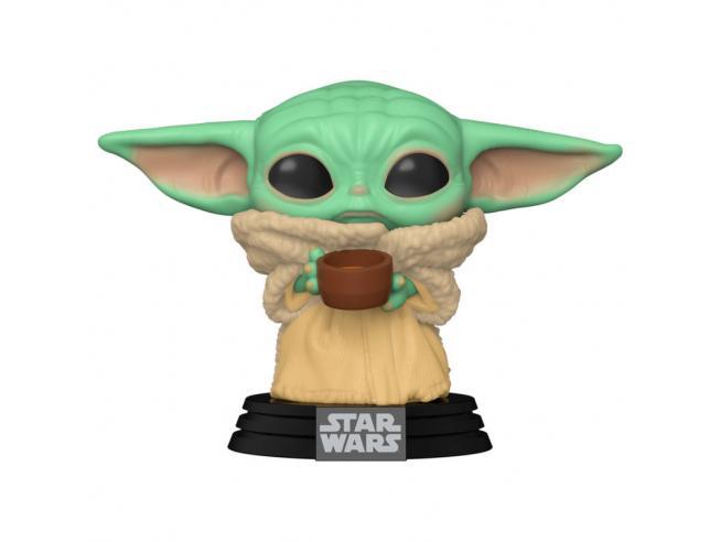 Star Wars Il Mandaloriano Funko Pop Vinile Figura Bambino Con Tazza 9 cm