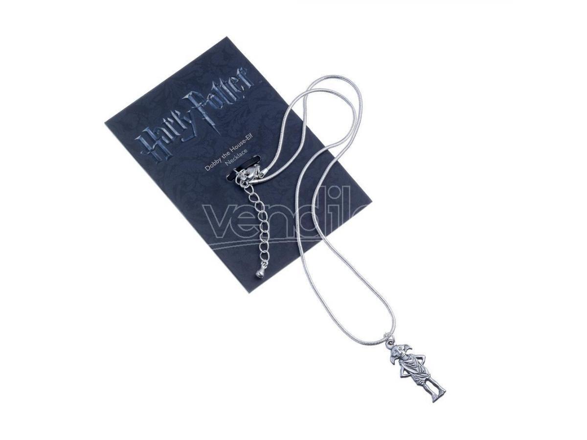 Harry Potter Collana con Ciondolo Elfo Dobby placcato argento 40 cm The Carat Shop