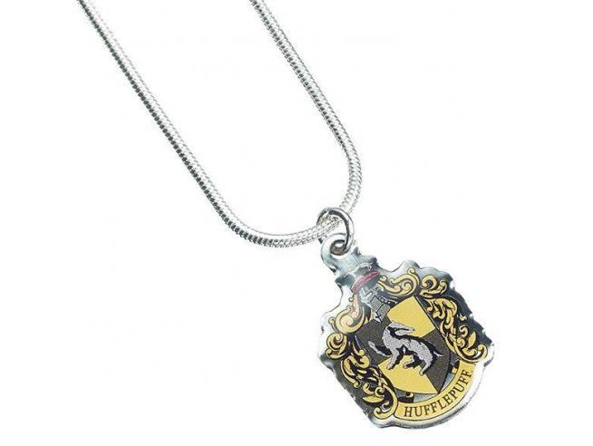 Harry Potter Collana con Ciondolo Stemma Tassorosso 40 cm The Carat Shop