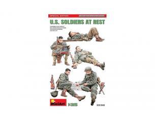 MINIART MIN35318 U.S.SOLDIERS AT REST.SPECIAL EDITION KIT 1:35 Modellino