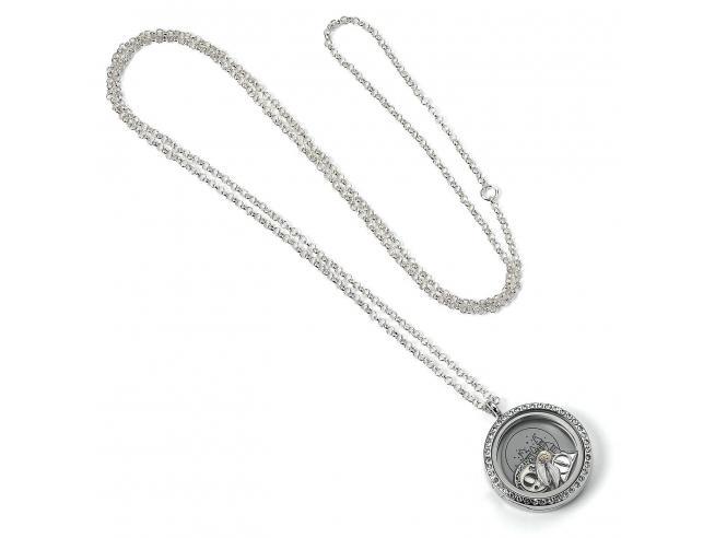 Harry Potter Collana con Medaglione Galleggiante con 3 Ciondoli 85 cm The Carat Shop