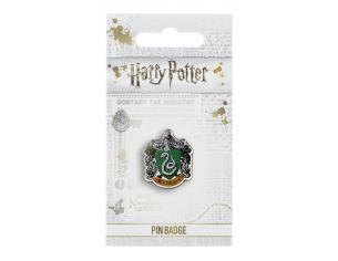 Harry Potter Spilla Distintivo Stemma Serpeverde 2 x 2 cm The Carat Shop