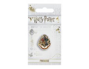 Harry Potter Spilla Distintivo Stemma Hogwarts 2 x 2 cm The Carat Shop
