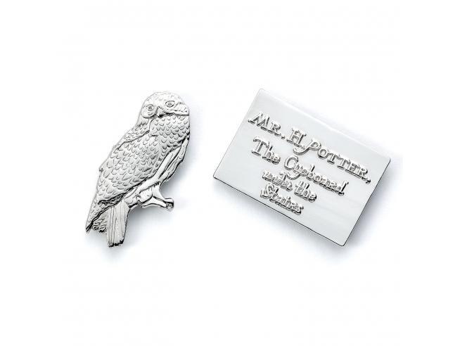 Harry Potter Spilla Distintivo Edvige & Lettera 2 x 1 cm The Carat Shop