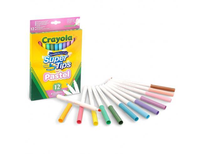 Crayola Super Tips Pastel set 12 markers Crayola