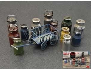 MINIART MIN35580 MILK CANS W/SMALL CART KIT 1:35 Modellino