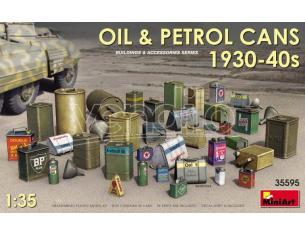 MINIART MIN35595 OIL & PETROL CANS 1930-40s KIT 1:35 Modellino