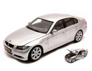 WELLY WE1995 BMW 330 I 2007 SILVER 1:18 Modellino