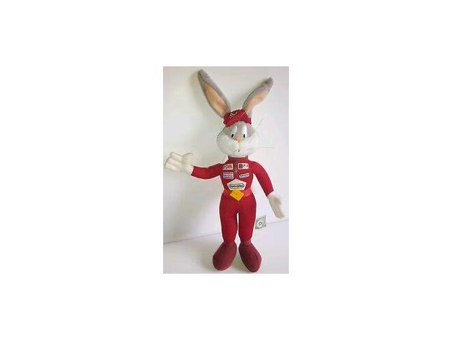 Looney Tunes Disney Peluche Bugs Bunny Pilota F1 50 cm
