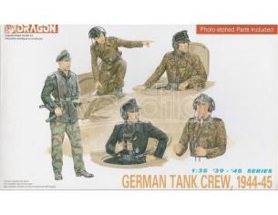 Dragon D6014 GERMAN TANK CREW 1944-45  KIT 1:35 Modellino