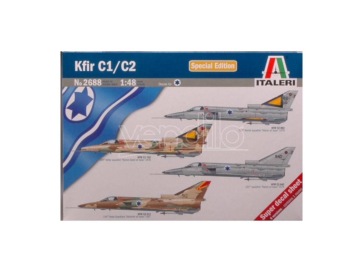 Italeri IT2688 KFIR C1/C2 KIT 1:72 Modellino