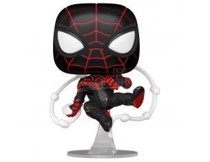 Marvel Spiderman Funko Pop Film Vinile Figura Miles Morales Tuta Tecnica Avanzata 9 cm