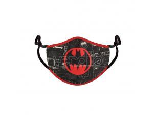 Batman Face Mask Red Logo Difuzed