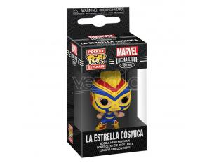 Marvel Luchadores Pocket Pop! Vinile Portachiavis 4 Cm Captain Marvel Display (12) Funko