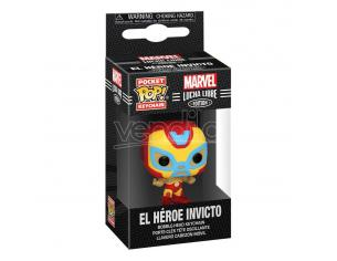 Marvel Luchadores Pocket Pop! Vinile Portachiavis 4 Cm Iron Man Display (12) Funko