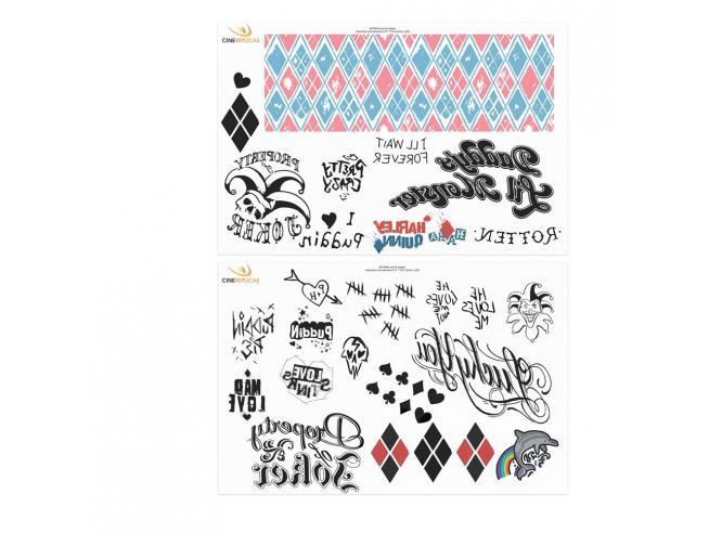 Dc Comics Temporary Tatuaggi 40-set Harley Quinn Cinereplicas