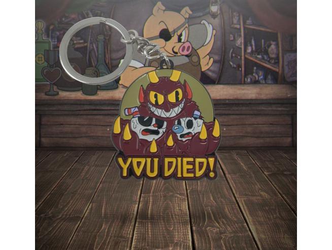 Cuphead Metal Portachiavi You Died! Edizione Limitata 4 Cm Fanattik