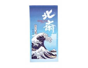 Ukiyo-e Telo Mare Asciugamano The Great Wave Of Kanagawa 70 X 140 Cm Marushin