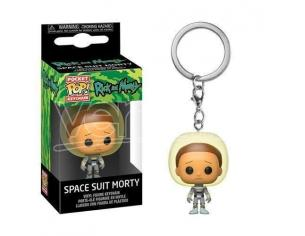 Rick & Morty Pocket Pop! Vinile Portachiavi Space Suit Morty 4 Cm Funko