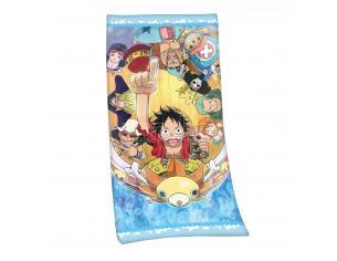 One Piece Velour Telo Mare Asciugamano Cappello Di Paglia Pirates 75 X 150 Cm Herding