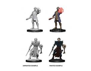 D&d Nolzur's Marvelous Miniatures Unpainted Miniatures Male Human Warlock Case (6) Wizbambino