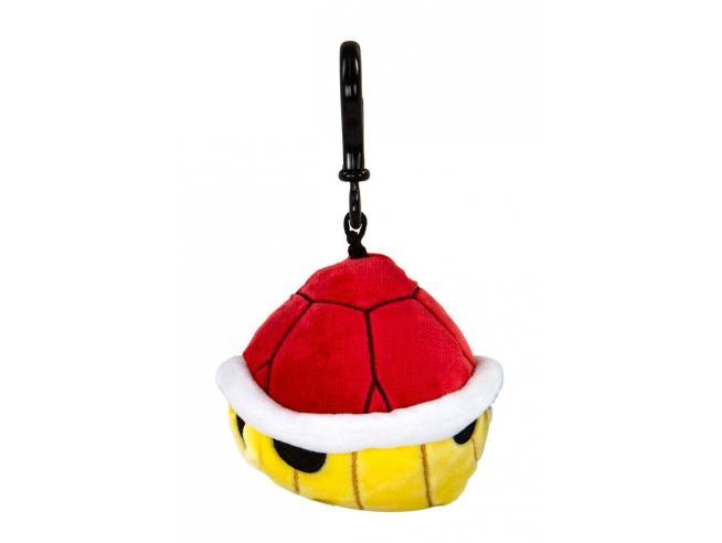 Mario Kart Mocchi-mocchi Clip On Peluche Hanger Red Shell 10 Cm Tomy