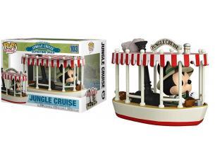 Jungle Cruise Funko POP Rides Vinile Figura Skipper Mickey con Barca 15 cm
