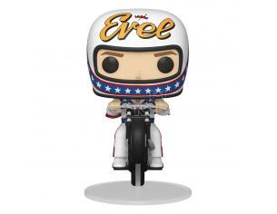 Evel Knievel Funko Pop Rides Vinile Figura Evel Knievel On Motorcycle 18 Cm
