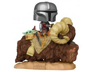 Star Wars The Mandalorian Funko Pop Mando Con Bambino Nella Borsa Sul Bantha