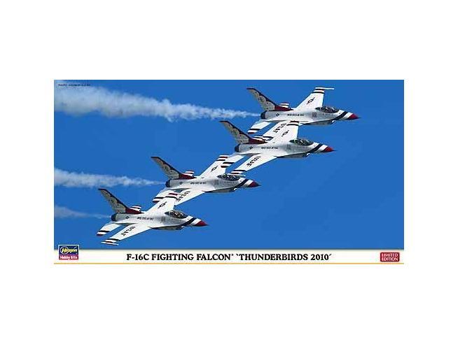 HASEGAWA 09935F-16C FIGHTING FALCON THUNDERBIRDS 2010 1:48 KIT Modellino