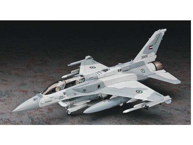 HASEGAWA 07244 F-16F (BLOCK 60) FIGHTING FALCON 1:48 KIT Modellino