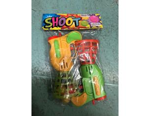 Coppia Palla Cesto Pistola Giocattolo con Palline N. 598 (Giocattolo)