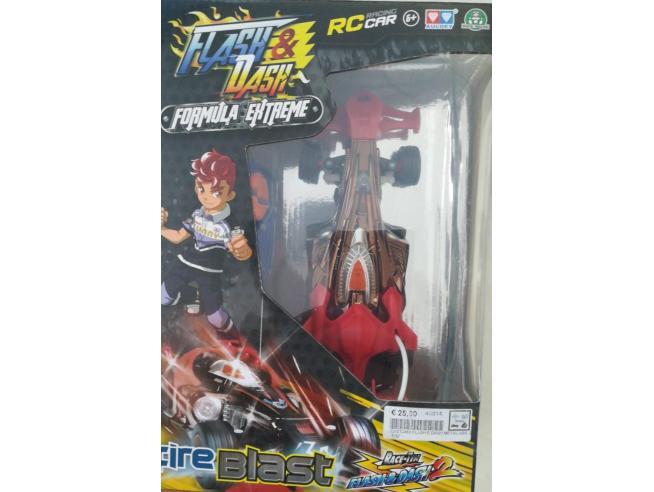 Flash & Dash-Formula Extreme Figura Fire Blast Giochi Preziosi