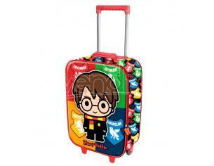 Harry Potter Trolley Chibi Harry e le 4 Casate di Hogwarts 3D 47cm Karactermania