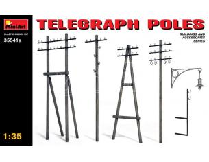 MINIART MIN35541A TELEGRAPH POLES KIT 1:35 Modellino