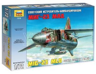 ZVEZDA Z7218 MIG 23 MDL SOVIET FIGHTER KIT Modellino
