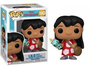 Lilo & Stitch Disney Funko POP Animazione Vinile Figura Lilo con Scrump 9 cm