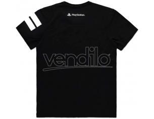 T Shirt Sony PlayStation Con Logo Bianco E Nero Difuzed