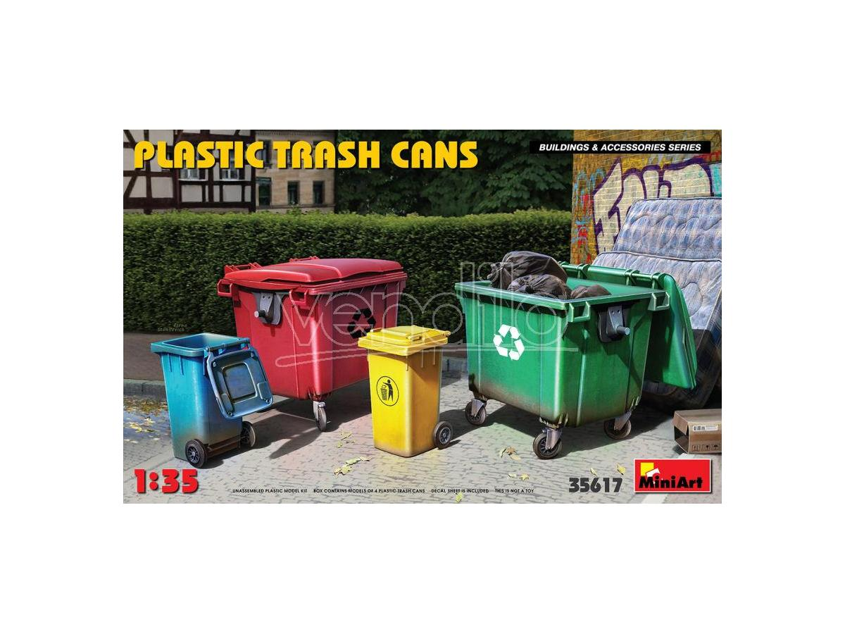 Miniart Min35617 Plastica Trash Cans Kit 1:35 Modellino