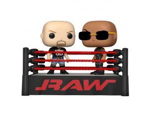 Wwe Funko Pop Vinile Figura 2-pacchetti The Rock Vs Stone Cold Nel ring Di Wrestling 9 Cm