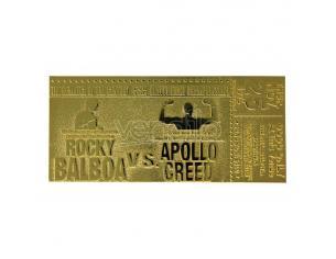 Rocky 2 Replica Biglietto La Sfida (placcato in oro) Fanattik