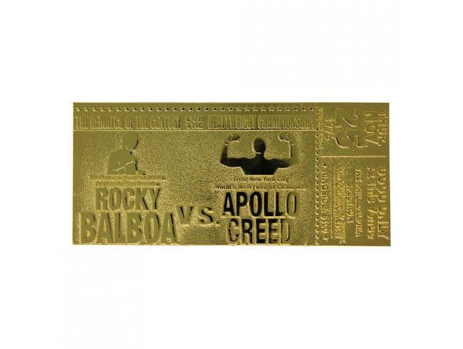 Rocky 2 Replica Biglietto Rocky Balboa vs Apollo Creed (Placcato in Oro) Fanattik