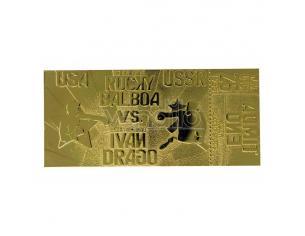 Rocky 4 Replica Biglietto Combattimento Est E Ovest (placcato in oro) Fanattik