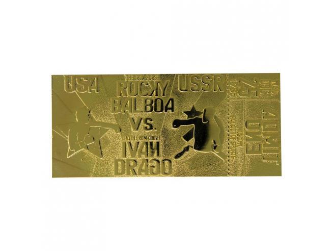 Rocky 4 Replica Biglietto Rocky Balboa vs Ivan Drago (Placcato in Oro) Fanattik