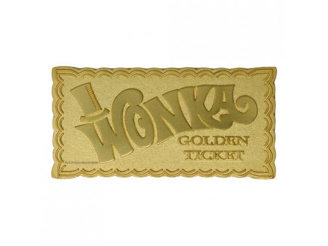 Willy Wonka E La Fabbrica Di Cioccolato Replica Mini Biglietto (placcato in oro) Fanattick